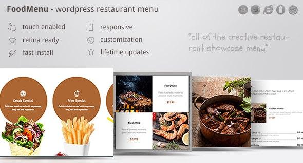 FoodMenu - WP Creative Restaurant Menu Showcase WooCommerce - CodeCanyon Item for Sale