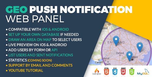 Geo Push Web Panel iOS & Android