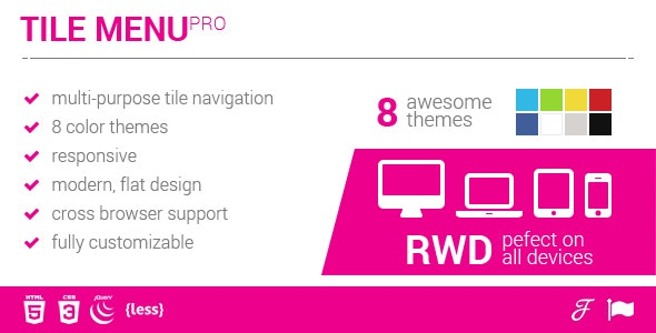 Multipurpose Responsive Tile Navigation Menu - CodeCanyon Item for Sale