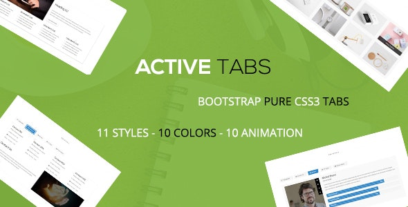 Active - A Responsive Bootstrap Pure CSS3 Tabs - CodeCanyon Item for Sale