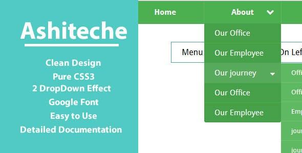 Ashiteche CSS Menu