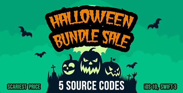 Halloween Bundle Sale - 5 source codes in iOS 10 and Swift 3
