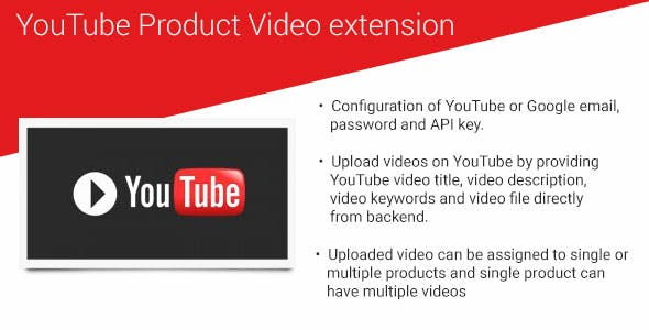 YouTube product video magento2 extension