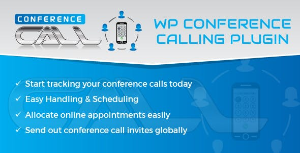Wordpress Twilio Conference Calls, Scheduler And Appointments Plugin