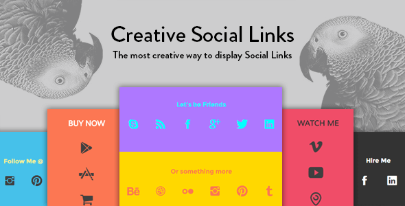 Creative Social Links - WordPress Widget & Visual Composer Add-on