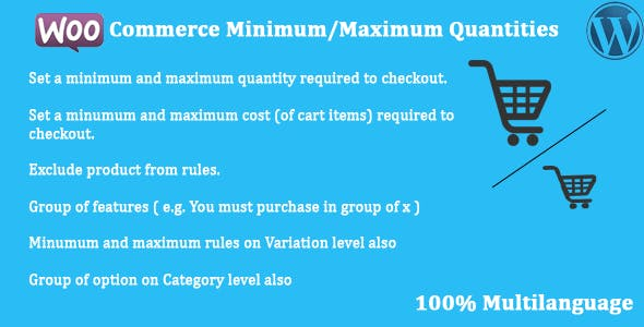 WooCommerce - Minimum/Maximum Quantities        Nulled