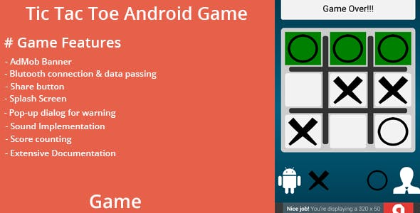 Tic Tac Toe Android Game with Bluetooth Support