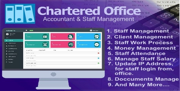 Chartered Office - Accountant & Staff Management - CodeCanyon Item for Sale