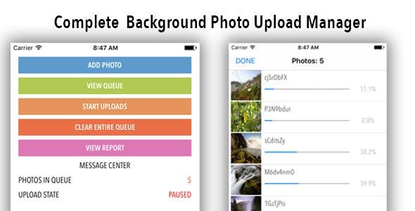 iOS Photo Upload Manager