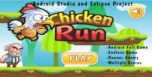 Chicken Run - Android Full BuildBox Game (Eclipse Project - Buildbox 2.2.6)