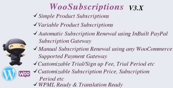 WooSubscriptions - Subscriptions for WooCommerce - CodeCanyon Item for Sale