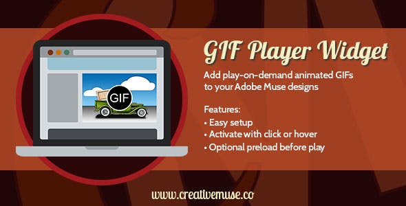 GIF Player Widget for Adobe Muse