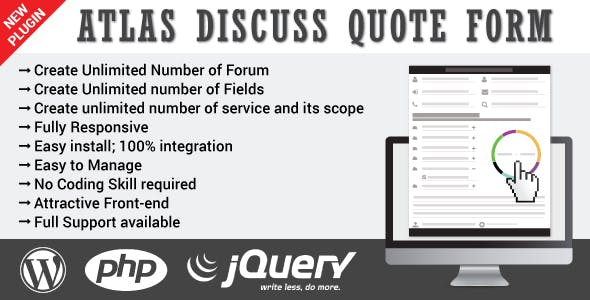 Atlas Discuss Quote Form - WordPress
