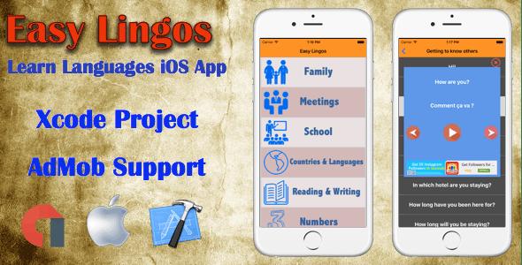 Easy Lingos : Learn Languages (iOS App)