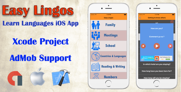Easy Lingos : Learn Languages (iOS App) - CodeCanyon Item for Sale