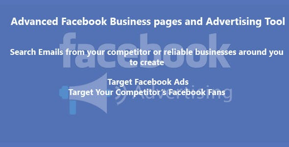 Advanced Facebook Business pages and Advertising Tool v 1.1