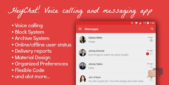 HeyChat! - Voice and text messaging app - CodeCanyon Item for Sale