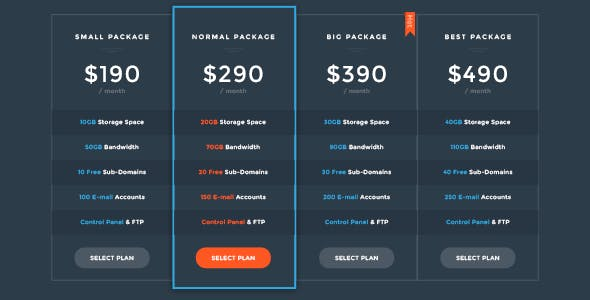 Price HTML Template