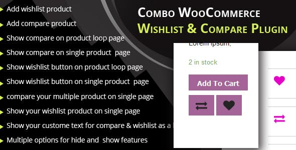 1a5214e45570 Combo WooCommerce wishlist   Compare plugin - CodeCanyon Item for Sale