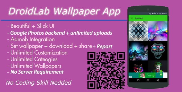 Wallpaper App with Google Photos Backend - No Server Needed + Admob  interstitial And Banner Ads - CodeCanyon Item for Sale