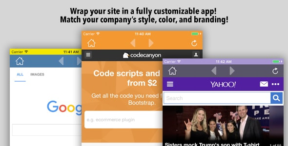 Customizable Site App iOS - CodeCanyon Item for Sale