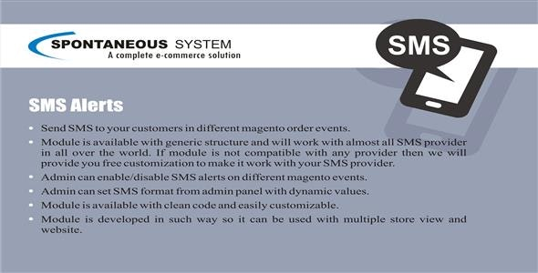 Magento SMS Alerts - CodeCanyon Item for Sale