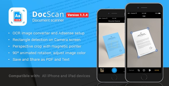 DocScan - Document Scanner - CodeCanyon Item for Sale