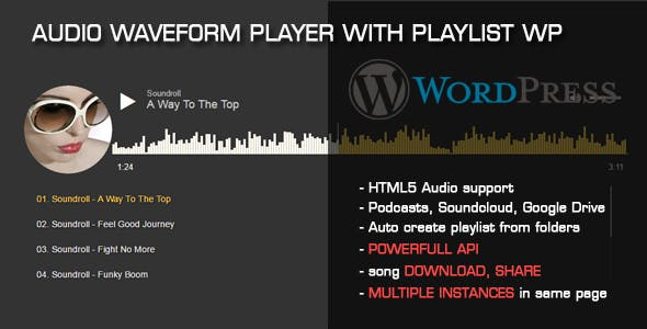 Audio Waveform Player with Playlist WP Plugin