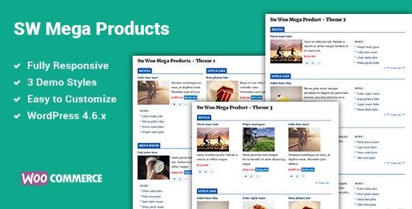 Mega Products WooCommerce WordPress Plugin
