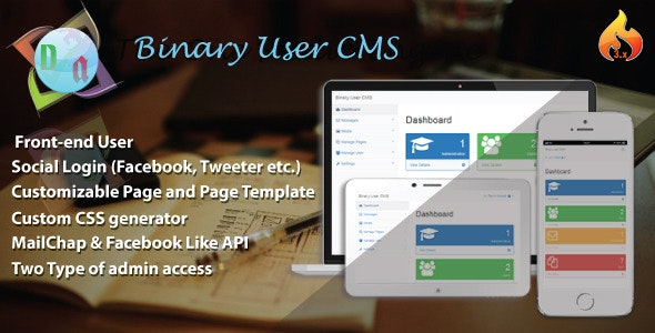 Binary User CMS - CodeCanyon Item for Sale