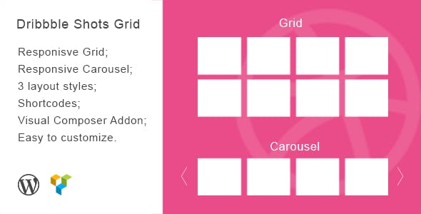 Dribbble Shots Grid - WordPress Widget
