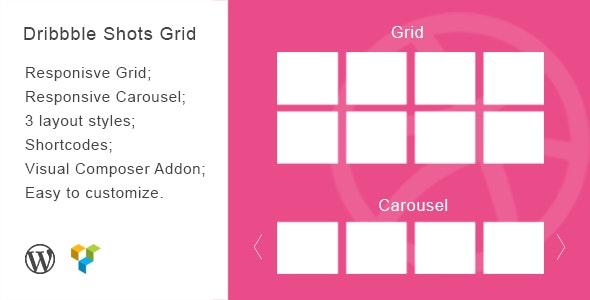 Dribbble Shots Grid - WordPress Widget - CodeCanyon Item for Sale