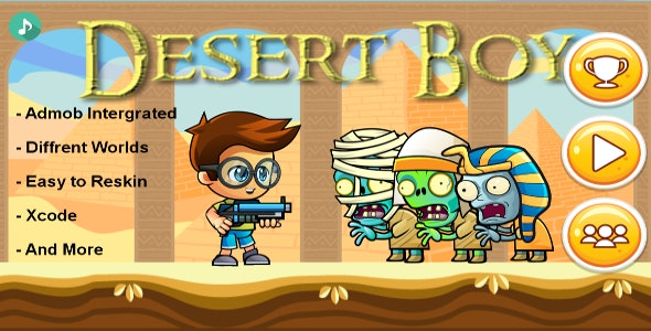 Dessert Boy - iOS - Android - iAP + ADMOB + Leaderboards + Buildbox 2.0 - CodeCanyon Item for Sale