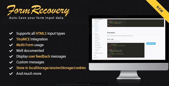 jQuery Form Recover