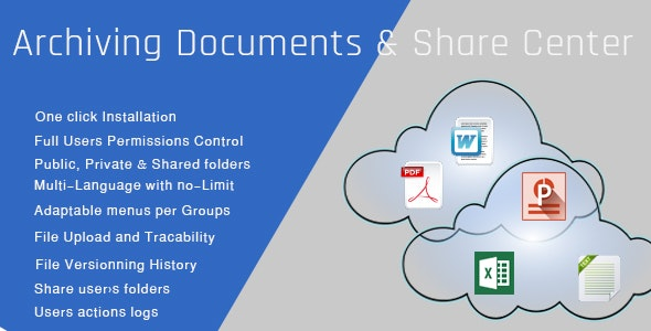 Archiving Documents & Share Center | Entreprise Edition - CodeCanyon Item for Sale