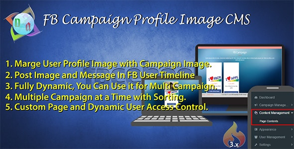 FB Campaign Profile Image CMS - CodeCanyon Item for Sale
