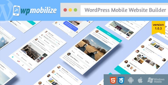 WordPress Mobile Website Builder Plugin - CodeCanyon Item for Sale