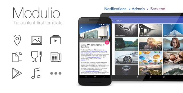Modulio for Android - News/Directory/Wallpapers/Music/City App - CodeCanyon Item for Sale
