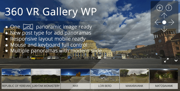 360 VR Gallery WP - CodeCanyon Item for Sale