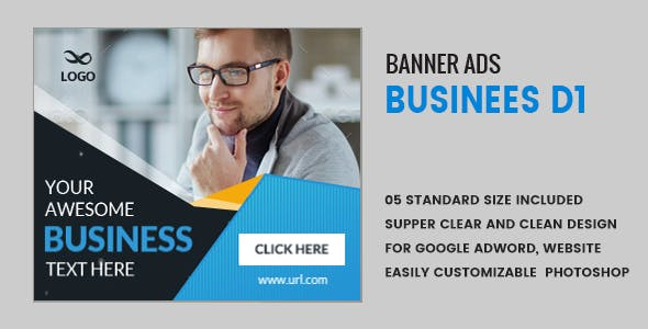 Business Banners HTML5 D1 - Animate