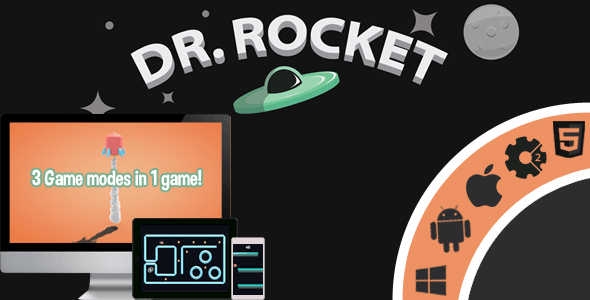 Dr.Rocket - 3 Game Modes In 1 game! - HTML5 - Capx