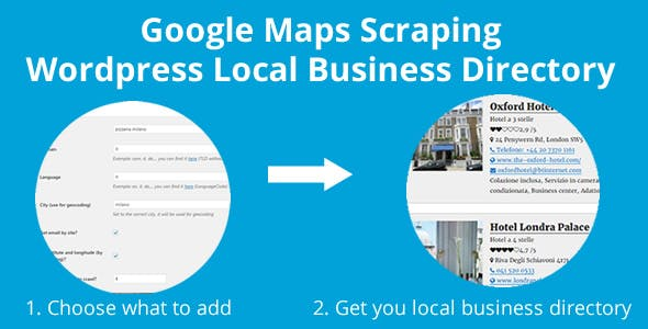 Google Maps Scraping Wordpress Directory Local Business