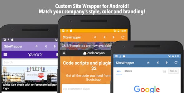 Customizable Site App Android - CodeCanyon Item for Sale