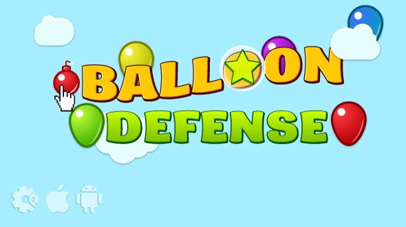 Balloon defense - HTML5 game. Construct2 (.capx) + mobile + cocoon ADS - CodeCanyon Item for Sale