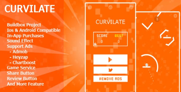 Curvilate – Buildbox Game Template
