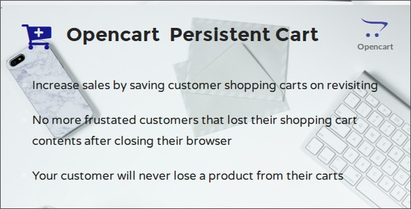 Opencart Persistent Cart - CodeCanyon Item for Sale