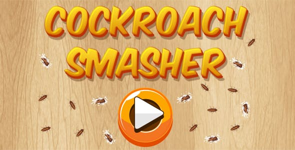 Cockroach Smasher - HTML5 Casual Game (CAPX + APK)