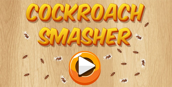 Cockroach Smasher - HTML5 Casual Game (CAPX + APK) - CodeCanyon Item for Sale