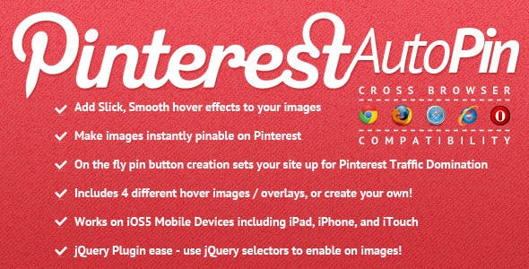 Pinterest Auto Pin for jQuery