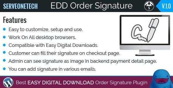 Easy Digital Downloads - Order Signature